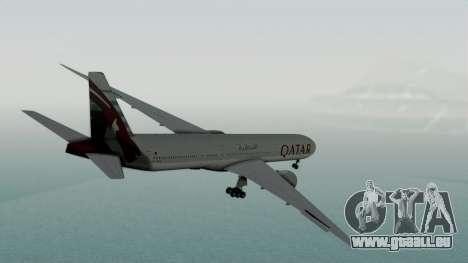 Boeing 777-9x Qatar Airways für GTA San Andreas linke Ansicht