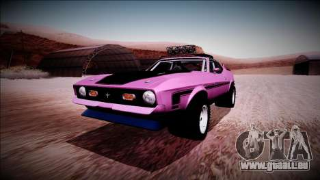 1971 Ford Mustang Rusty Rebel pour GTA San Andreas
