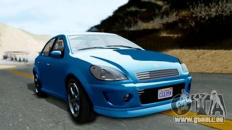 GTA 5 Declasse Premier pour GTA San Andreas sur la vue arrière gauche
