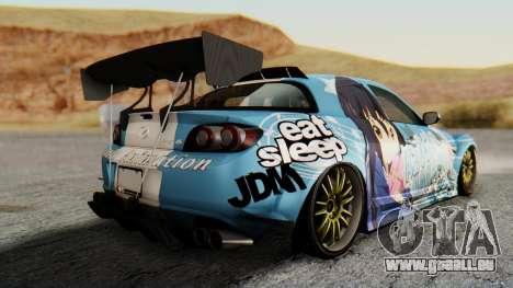 Mazda RX-8 Itasha für GTA San Andreas linke Ansicht