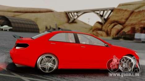GTA 5 Benefactor Schafter V12 IVF pour GTA San Andreas sur la vue arrière gauche