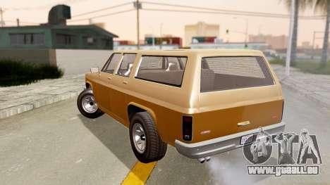 GTA 5 Declasse Rancher XL pour GTA San Andreas laissé vue