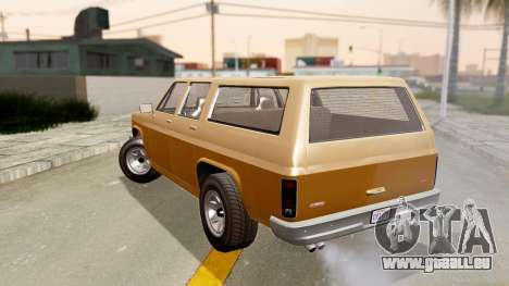 GTA 5 Declasse Rancher XL für GTA San Andreas linke Ansicht