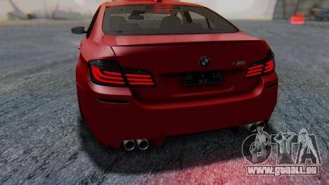 BMW M5 2012 Stance Edition für GTA San Andreas Motor