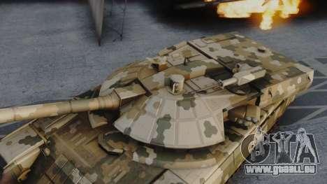 T-100 Varsuk pour GTA San Andreas sur la vue arrière gauche