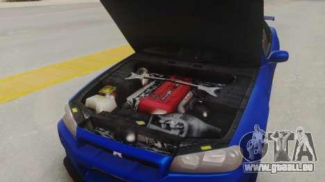 Nissan Skyline GT-R 2005 Z-Tune Nismo Prototype pour GTA San Andreas vue arrière