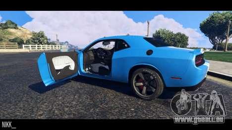 GTA 5 Dodge Challenger 2015 Rückansicht