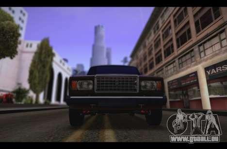VAZ 2107 Oper pour GTA San Andreas laissé vue