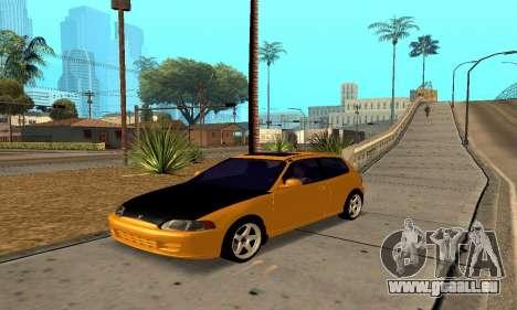 Honda Civic EG6 Tunable pour GTA San Andreas vue de côté