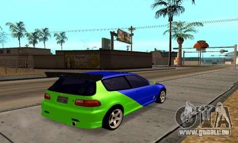 Honda Civic EG6 Tunable pour GTA San Andreas vue de droite