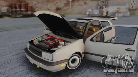 Volkswagen Golf Mk3 pour GTA San Andreas vue intérieure