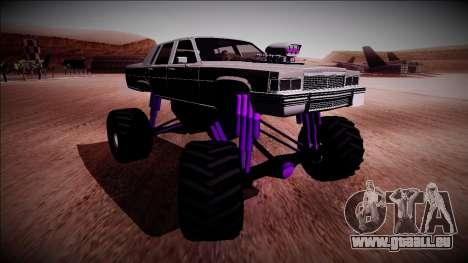 GTA 4 Emperor Monster Truck für GTA San Andreas rechten Ansicht
