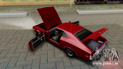 Ford Gran Torino Sport SportsRoof (63R) 1972 PJ1 pour GTA San Andreas vue intérieure