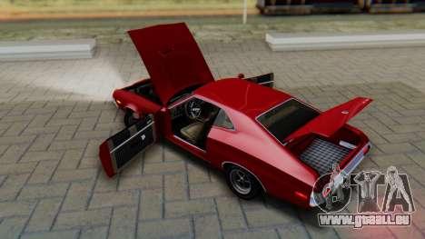 Ford Gran Torino Sport SportsRoof (63R) 1972 PJ1 pour GTA San Andreas vue intérieure