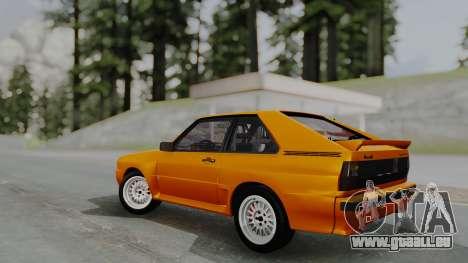 Audi Quattro Coupe 1983 pour GTA San Andreas vue intérieure