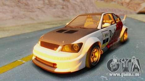 GTA 5 Karin Sultan RS Carbon für GTA San Andreas obere Ansicht