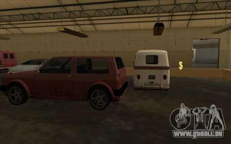 Le garage est situé à les quais pour GTA San Andreas troisième écran