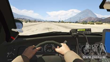 GTA 5 NYPD Ford CVPI HD Rückansicht