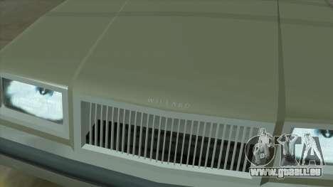 Willard Majestic pour GTA San Andreas vue de dessus