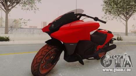 GTA 5 Dinka Vindicator IVF pour GTA San Andreas sur la vue arrière gauche