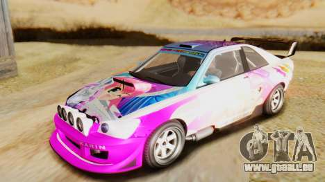 GTA 5 Karin Sultan RS IVF pour GTA San Andreas vue de côté