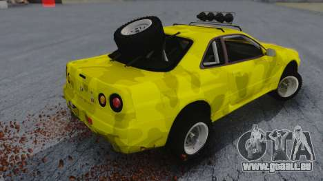 Nissan Skyline R34 Rusty Rebel für GTA San Andreas linke Ansicht
