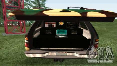 Chevrolet Suburban Camouflage pour GTA San Andreas vue de droite