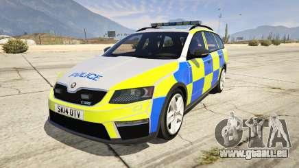 2014 Police Skoda Octavia VRS Estate für GTA 5