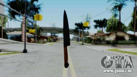 No More Room in Hell - Kitchen Knife für GTA San Andreas dritten Screenshot