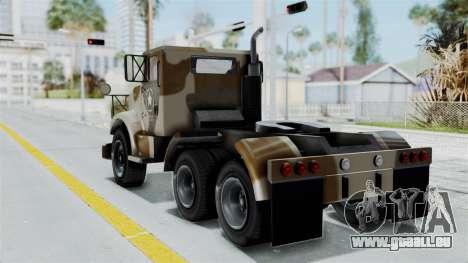 GTA 5 HVY Barracks Semi IVF für GTA San Andreas linke Ansicht