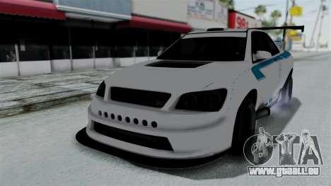 GTA 5 Karin Sultan RS Drift Double Spoiler PJ pour GTA San Andreas roue