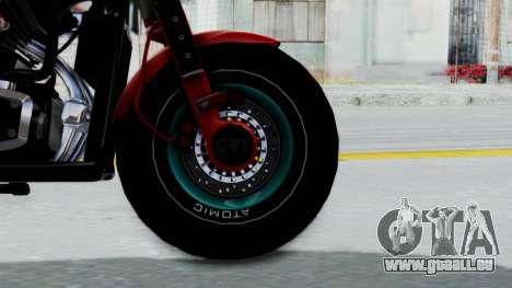 Turbike 3.0 pour GTA San Andreas sur la vue arrière gauche