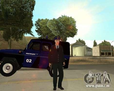 La Peau Est Sergei Glukharev pour GTA San Andreas cinquième écran