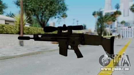 SCAR-20 v1 Supressor pour GTA San Andreas deuxième écran