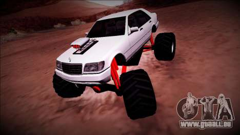 Mercedes-Benz W140 Monster Truck für GTA San Andreas linke Ansicht