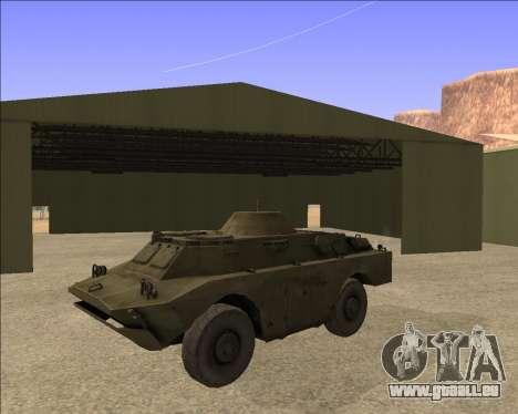 BRDM-2ЛД pour GTA San Andreas vue arrière