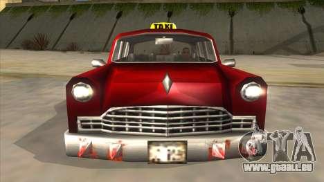 GTA3 Borgnine Cab pour GTA San Andreas vue intérieure