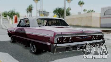 Chevrolet Impala 1964 pour GTA San Andreas laissé vue