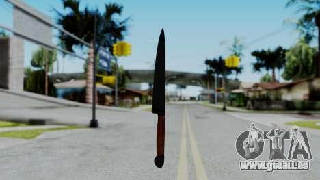 No More Room in Hell - Kitchen Knife für GTA San Andreas zweiten Screenshot