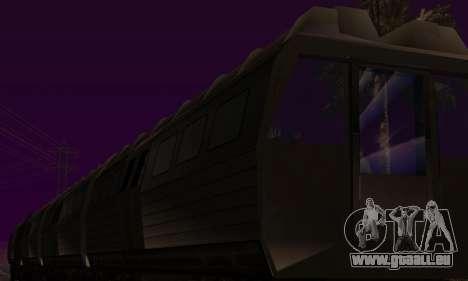 Batman Begins Monorail Train Vagon v1 pour GTA San Andreas vue de dessus