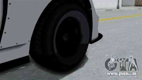 GTA 5 Karin Sultan RS Drift Double Spoiler PJ für GTA San Andreas zurück linke Ansicht