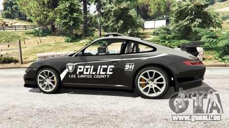 GTA 5 Porsche 911 GT3 RS Pursuit Edition vue latérale gauche