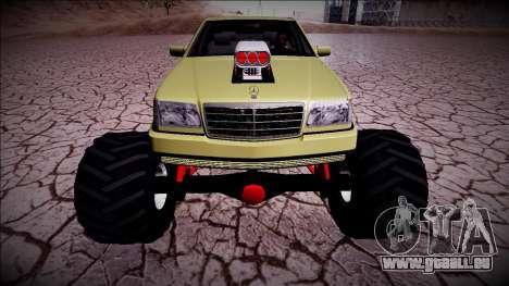 Mercedes-Benz W140 Monster Truck pour GTA San Andreas vue arrière