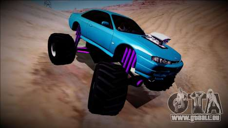 Nissan Silvia S14 Monster Truck für GTA San Andreas obere Ansicht