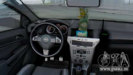 Opel-Vauxhall Astra Policia pour GTA San Andreas vue intérieure