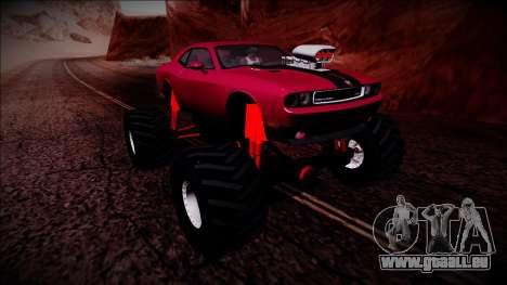 2009 Dodge Challenger SRT8 Monster Truck für GTA San Andreas obere Ansicht