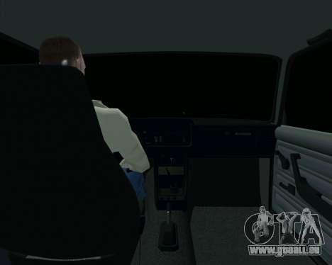 VAZ 2107 Hobo pour GTA San Andreas vue intérieure