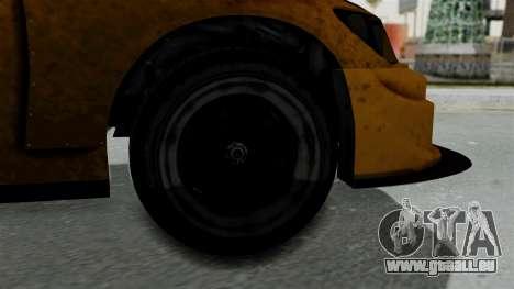 GTA 5 Karin Sultan RS Drift Big Spoiler pour GTA San Andreas sur la vue arrière gauche