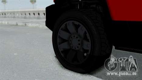 GTA 5 Karin Beejay XL pour GTA San Andreas sur la vue arrière gauche