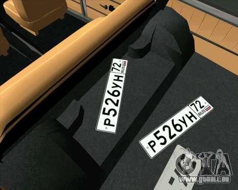 VAZ 2102 de Combat Classiques pour GTA San Andreas vue de droite